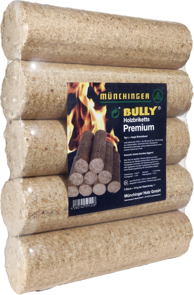 "Runde Premium Holzbriketts WEICHHOLZ ""BULLY"""