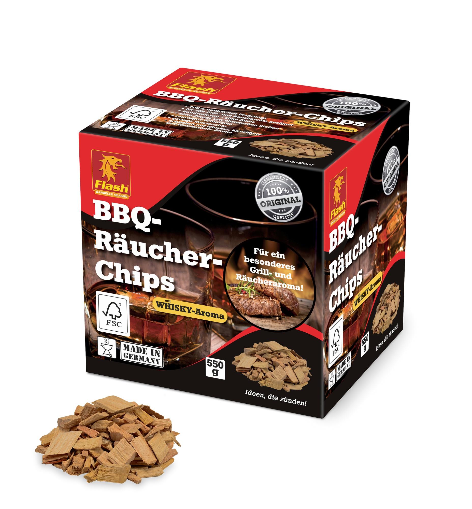 FLASH BBQ Räucher-Chips Whisky 550g