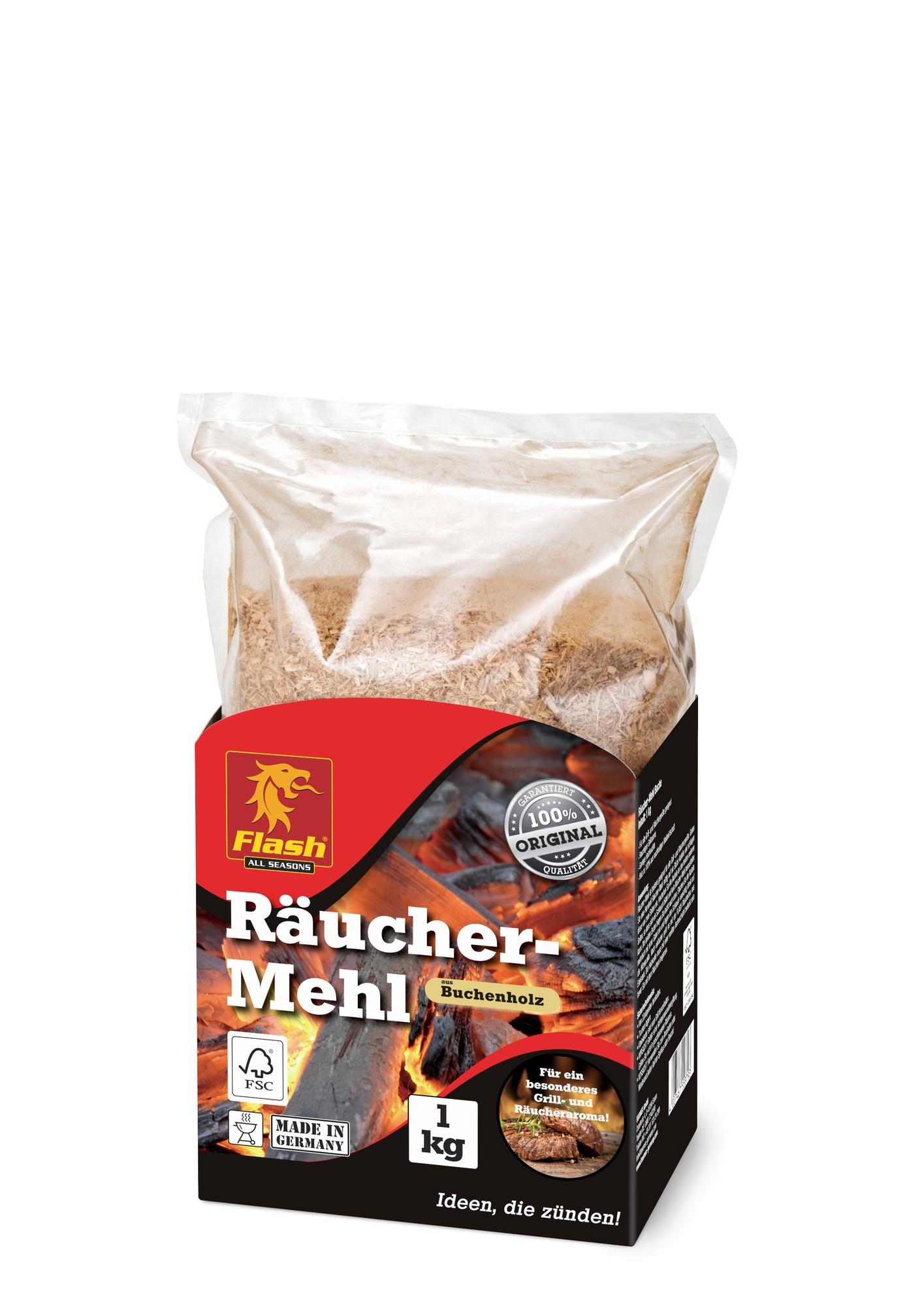 FLASH Räucher-Mehl Buche 1kg