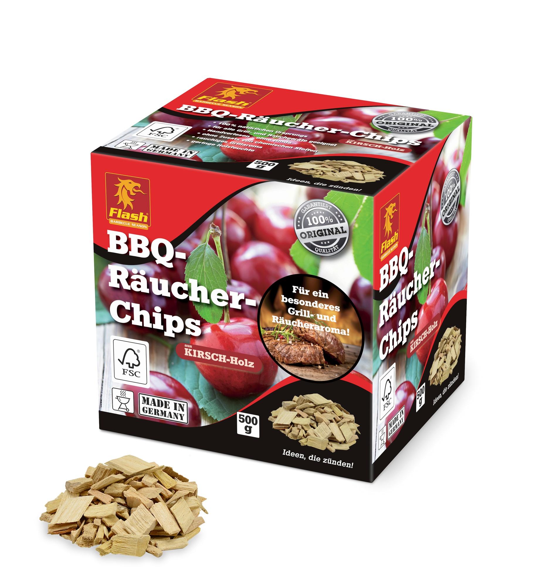 FLASH BBQ Räucher-Chips Kirsche 500g