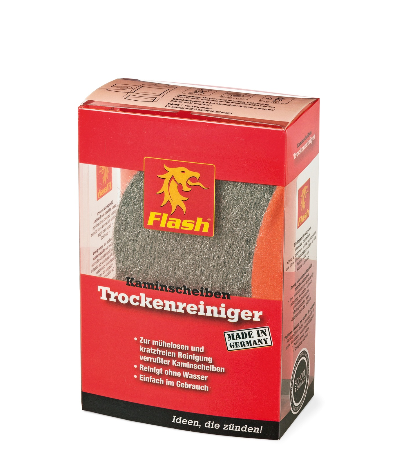 FLASH Kaminglas-Trockenreiniger