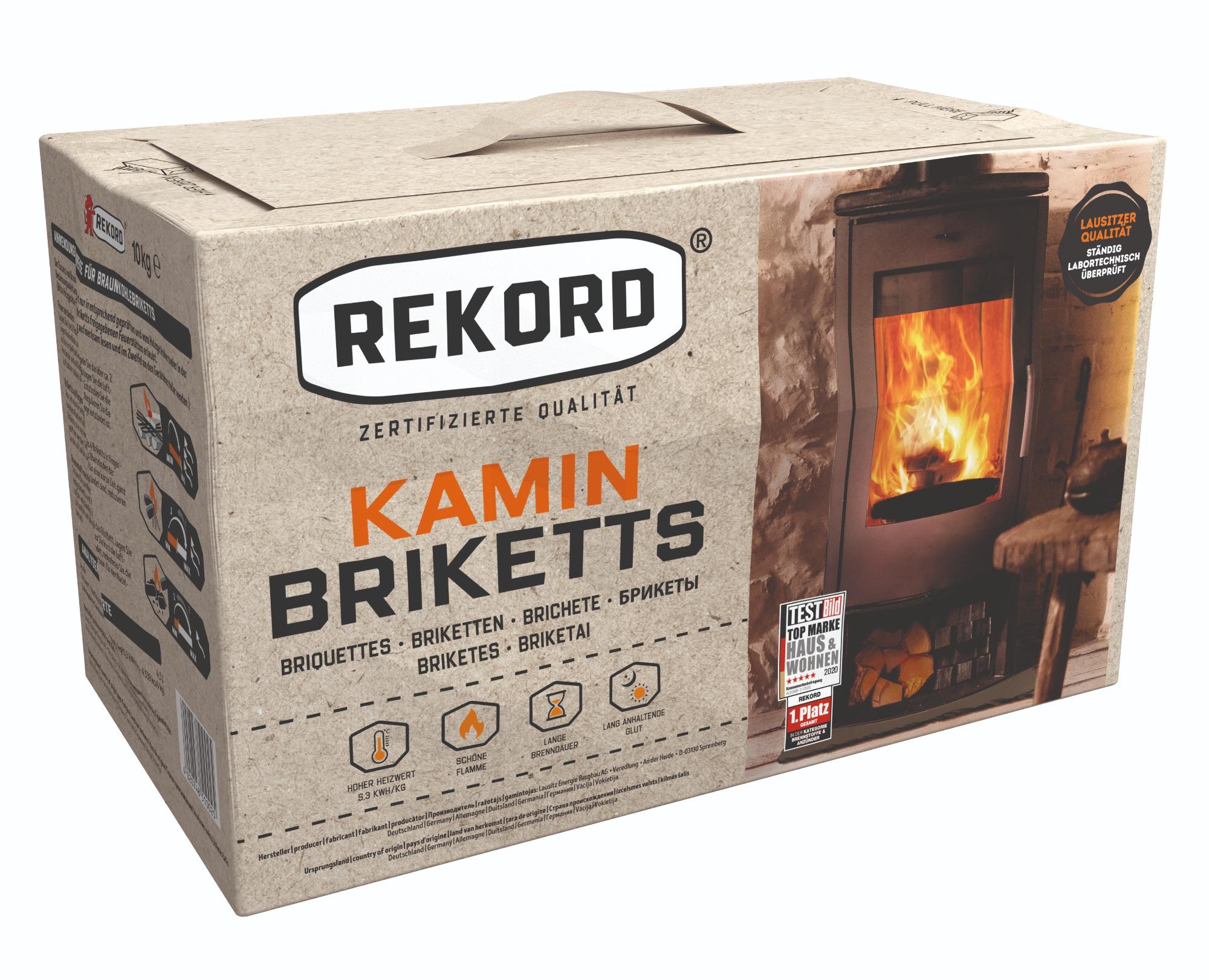 Original REKORD Kaminbriketts 10kg – Papier