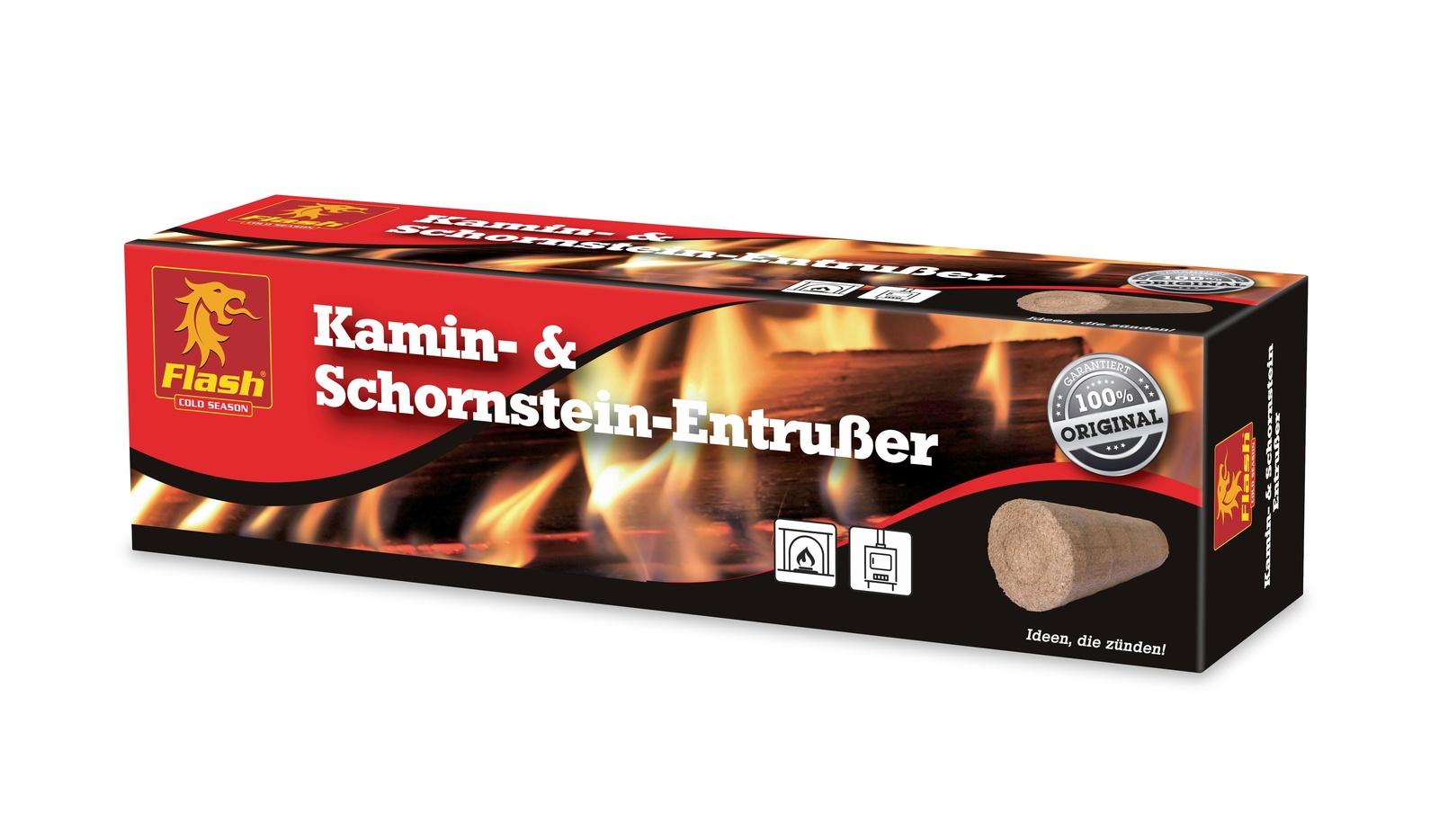 FLASH Entrußerblock für Kamin und Schornstein